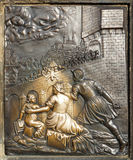 L'exécution de St John de bas-relief de Nepomuk Photos stock