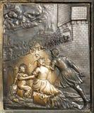 L'exécution de St John de bas-relief de Nepomuk Photos stock