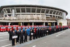 L'examen Kanagawa, Japon du feu de nouvelle année Images libres de droits