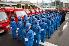 L'examen Kanagawa, Japon du feu de nouvelle année Photos libres de droits