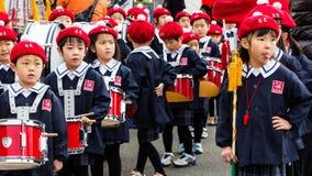 L'examen Kanagawa, Japon du feu de nouvelle année Photographie stock libre de droits
