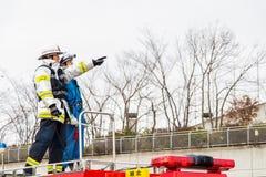 L'examen Kanagawa, Japon du feu de nouvelle année Photo stock