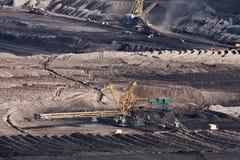 L'excavatrice en charbon à ciel ouvert photo stock