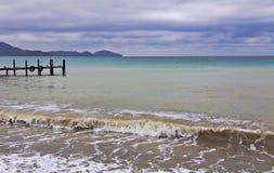 L'excitation sur la Mer Noire Baie de Koktebel photo stock