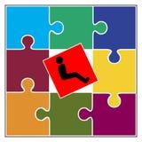 À l'exclusion de la personne avec l'incapacité Photo libre de droits