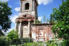 L'exemple du style architectural de l'église orthodoxe Photo libre de droits