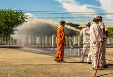 L'exercice contre l'incendie Image libre de droits