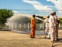 L'exercice contre l'incendie Photo stock