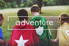 L'expérience de destination d'aventure explorent le concept de voyage photographie stock