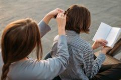 L'expérience de fille de formation de compétence améliorent le développement photos stock