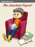 L'expert en matière de fauteuil Photo libre de droits