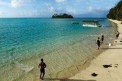 L'exploitation de fond de la mer a pu gagner des milliards d'Islands de cuisinier Photographie stock