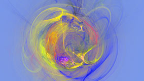L'explosion colorée courbe le fond 3d abstrait Image libre de droits