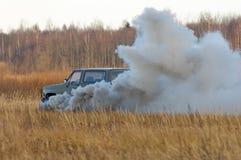 L'explosion du véhicule 1. Photos libres de droits