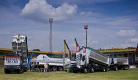 L'expo lourde - camions de Renault Image libre de droits