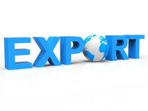 L'exportation de globe représente la vente à l'étranger et l'a exporté illustration stock