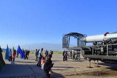 L'exposition bulgare de l'Armée de l'Air ceci est nous Images stock