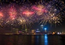 L'exposition chinoise de feux d'artifice de nouvelle année image libre de droits