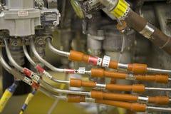 L'exposition détaillée d'un réacteur de turbine partie. Image libre de droits