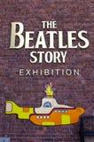 L'exposition d'histoire de Beatles Images libres de droits