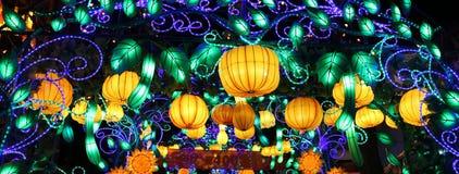 L'exposition de lanterne à Zigong, porcelaine en 2014 Photographie stock libre de droits