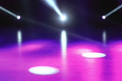 L'exposition de lumière de concert, étape s'allume, étape colorée s'allume, s léger Image libre de droits