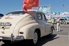 L'exposition de rétros voitures a produit en URSS sur l'avant-cour i Photo stock