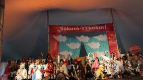 L'exposition 2014 de Sakura Matsuri Festival Cosplay Fashion 33 Photographie stock