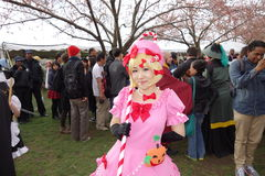 L'exposition 2014 de Sakura Matsuri Festival Cosplay Fashion 46 Photo libre de droits