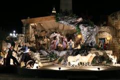 L'exposition de scène de nativité à Vatican images libres de droits