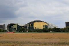 L'exposition et le centre de congrès de Kaohsiung avant des précipitations Photo stock