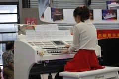 L'exposition 2014 internationale d'instruments de musique de Changhaï Images stock