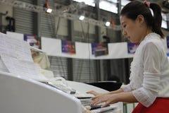 L'exposition 2014 internationale d'instruments de musique de Changhaï Photo stock