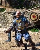 L'exposition : La l?gende des chevaliers dans Provins, France images libres de droits