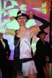 L'exposition les danseurs du corps de ballet dansent le style de groupe Photo libre de droits