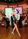 L'exposition les danseurs du corps de ballet dansent le style de groupe Photos stock