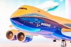 L'exposition modèle les avions de Boeing 747 La Russie, Moscou Juillet 2017 images libres de droits