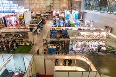 L'exposition VeloPark-2015 Vue générale Vue à partir de dessus Photographie stock libre de droits