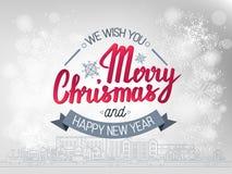 L'expression manuscrite nous te souhaitons un Joyeux Noël et une bonne année Photos libres de droits