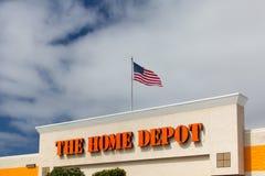 L'extérieur de Home Depot Photo libre de droits