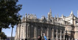 L'extérieur de la cathédrale en Séville la capitale artistique, culturelle, et financière de l'Espagne du sud Photos stock