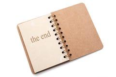 L'extrémité? écrite sur une vieille machine à écrire et un vieux papier Photo libre de droits
