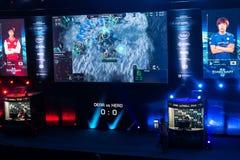 L'extrémité d'Intel maîtrise 2014, Katowice, Pologne Photographie stock libre de droits