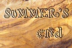 L'extrémité de l'été Photographie stock libre de droits