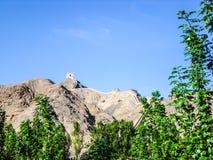 L'extrémité de la Grande Muraille dans la province de Gansu, Chine Image libre de droits