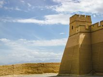 L'extrémité de la Grande Muraille dans la province de Gansu, Chine Photos libres de droits