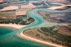 L'extrémité de la rivière Photos libres de droits
