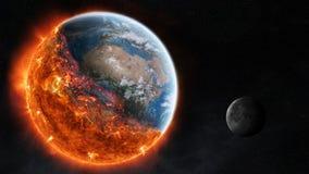 L'extrémité des éléments de rendu de la terre 3D de planète de ce furn d'image illustration libre de droits