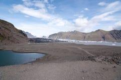 L'extrémité du glacier Photos stock