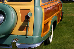 L'extrémité arrière du chariot boisé Images libres de droits